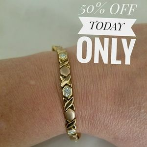 Jewelry - Bracelet yellow gold & rose gold platedw/ crystal